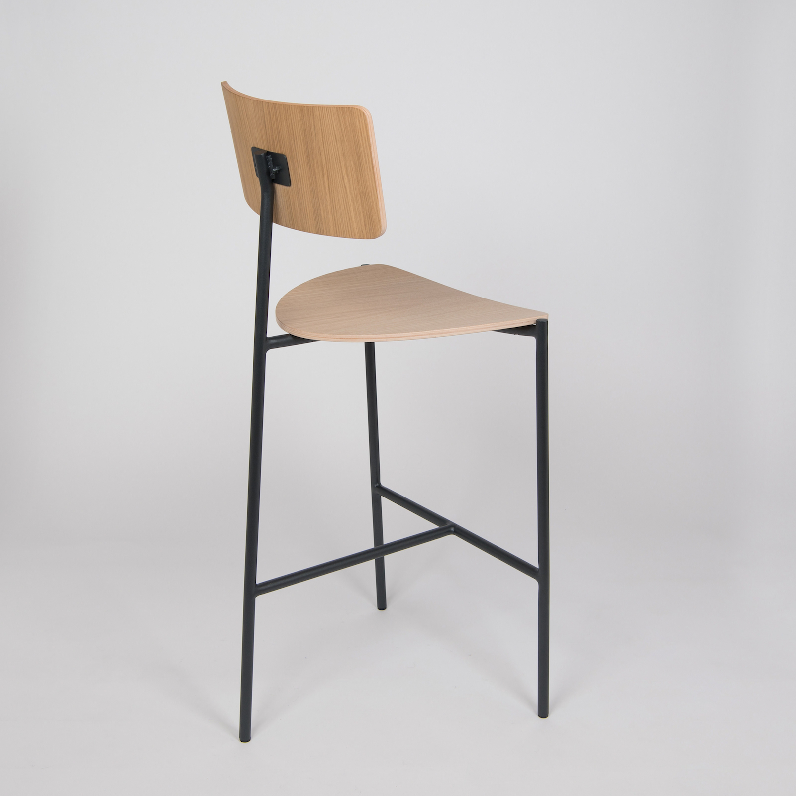 Existentialiste Bar Stool Natural Oak By Extranorm